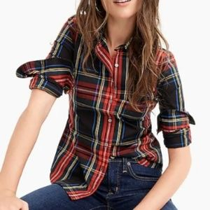 J. Crew Perfect Shirt Stewart Tartan Button Down